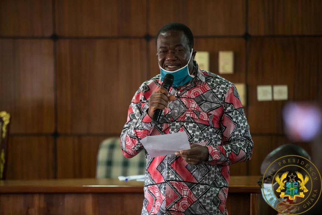 Akufo-Addo at Bono House of Chiefs