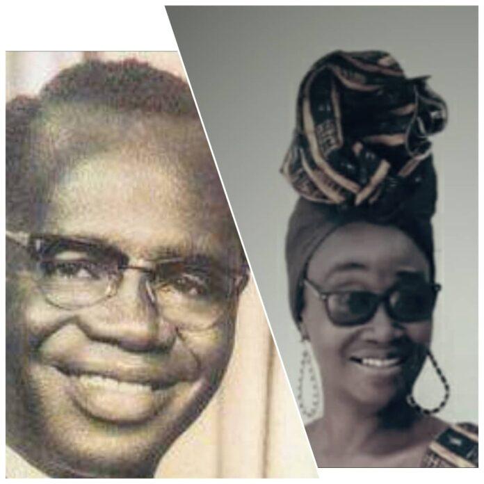 Dr. K.A Busia (right) and Nana Frema Busia