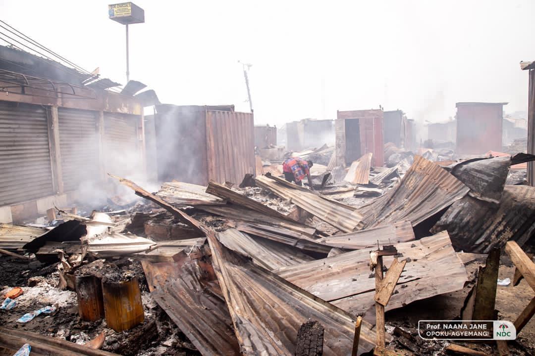 Odawna market fire
