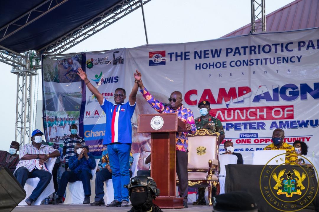 Akufo-Addo on Volta region