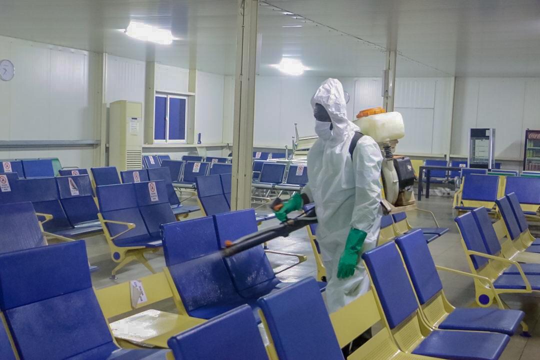 Kumasi airport disinfection